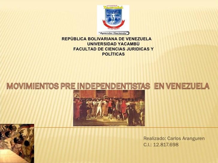 REPÚBLICA BOLIVARIANA DE VENEZUELA          UNIVERSIDAD YACAMBÚ    FACULTAD DE CIENCIAS JURIDICAS Y                POLÍTIC...