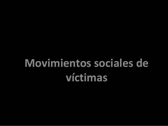 Movimientos sociales de víctimas