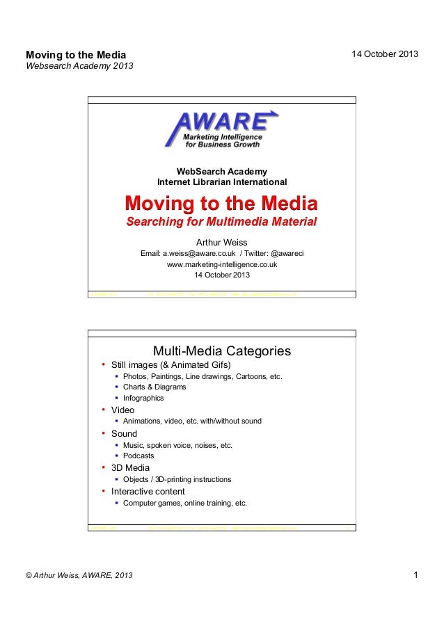 Moving to the media (2 slides per page)