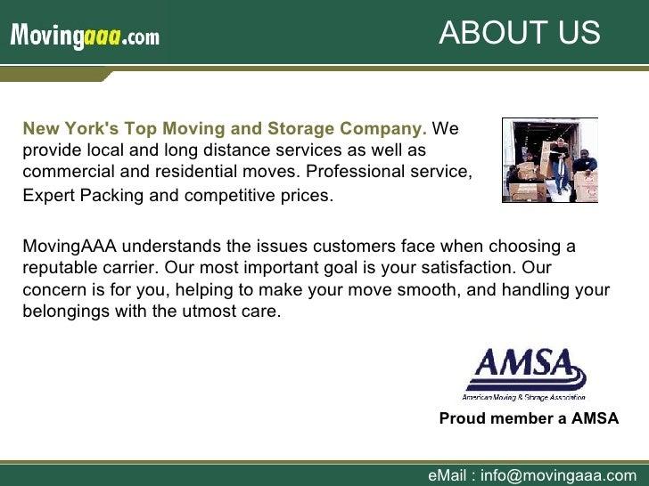 MovingAAA - New York & New Jersey Moving & Storage Company