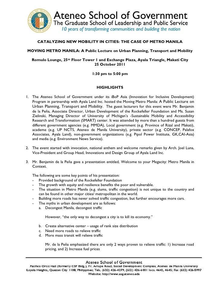 Moving Manila Public Lecture Documentation