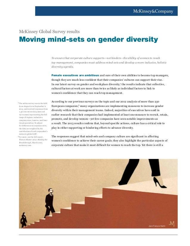 Gender diversity in top management