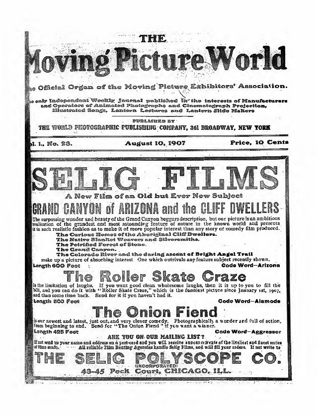 Moving Picture World, 1907 Free eMagazine