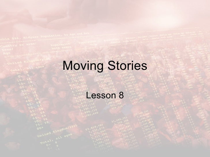 Moving stories lesson 8 - Population Pyramids
