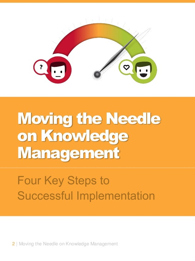 2 | Moving the Needle on Knowledge Management Moving the Needle on Knowledge Management