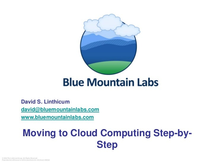 David S. Linthicum                            david@bluemountainlabs.com                            www.bluemountainlabs.c...
