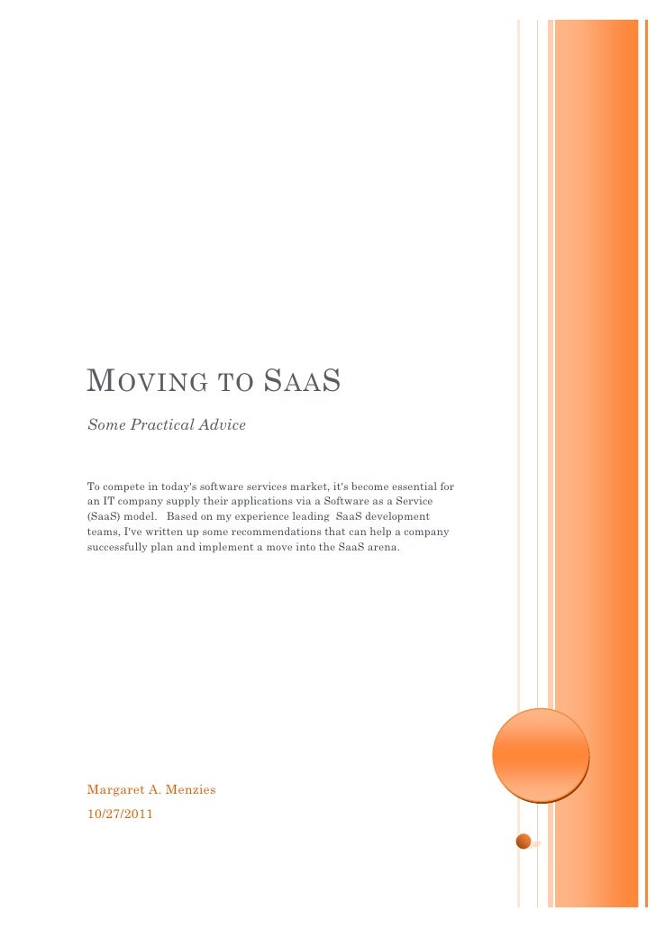 Moving to SaaS by Margaret Menzies
