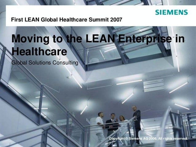 Moving to the Lean Enterprise in Healthcare