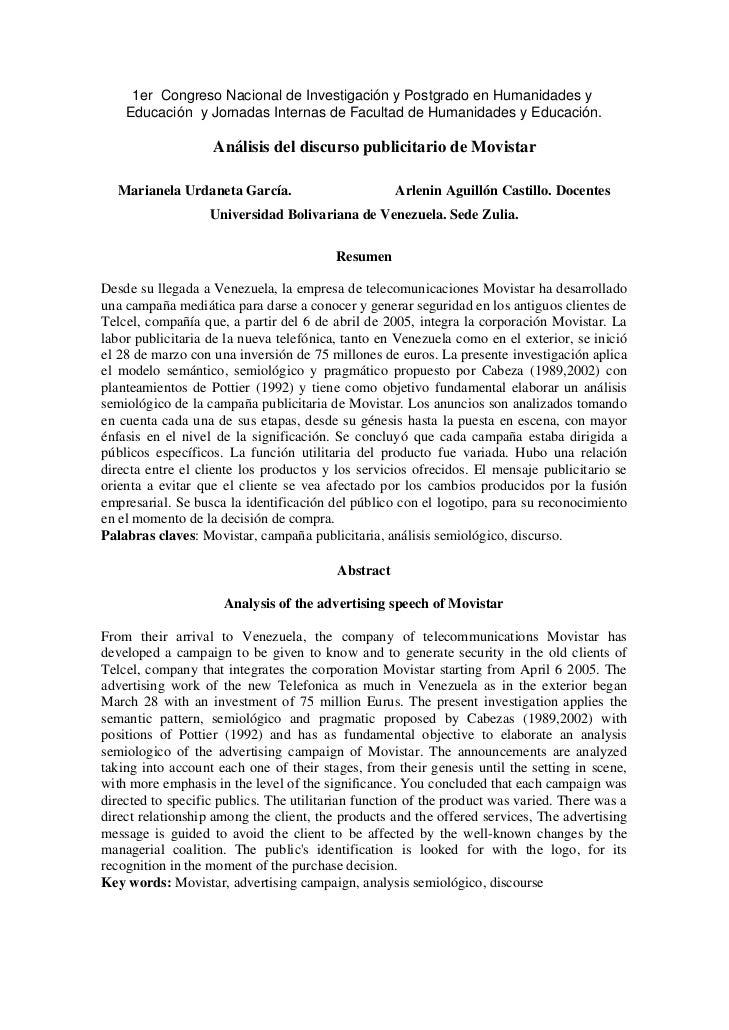 Análisis del discurso publicitario de Movistar