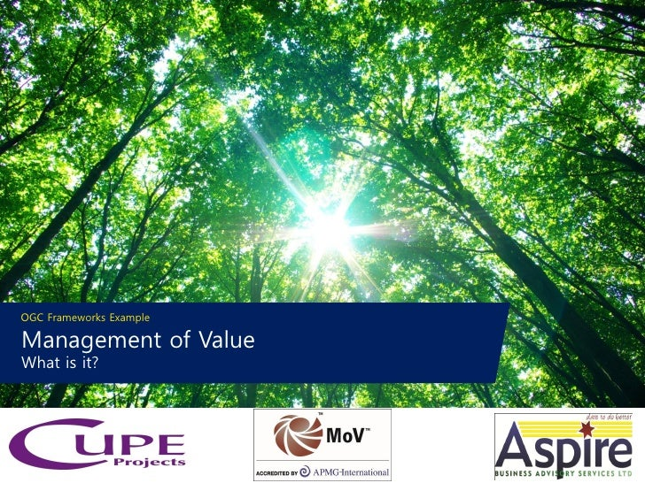 OGC Frameworks ExampleManagement of ValueWhat is it?                         1