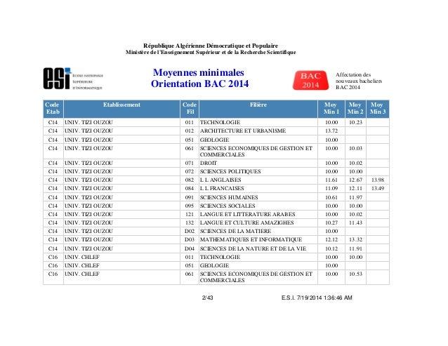 هذه قائمة 34 مدرسة عليا للمتفوّقين في البكالوريا Moyennes-minimales-2-638