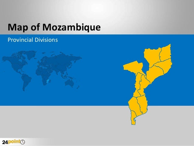 Editable PPT - Mozambique Map
