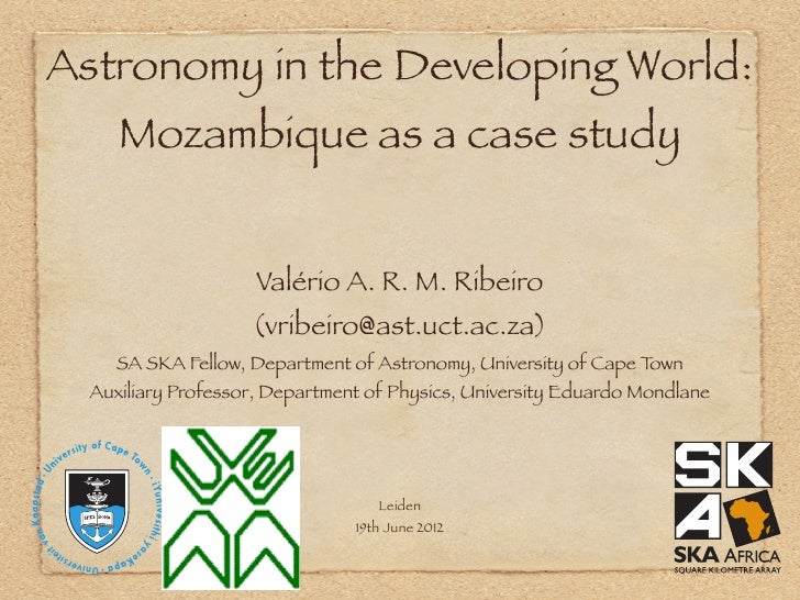 Astronomy in the Developing World: Mozambique as a case study