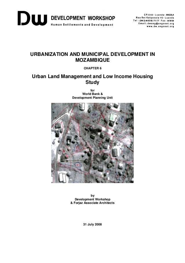 Mozambique: land, housing & decentralisation, 10/17/2008