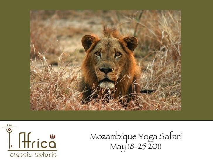 Africa Classic Safaris Mozambique Yoga Retreat May 2011