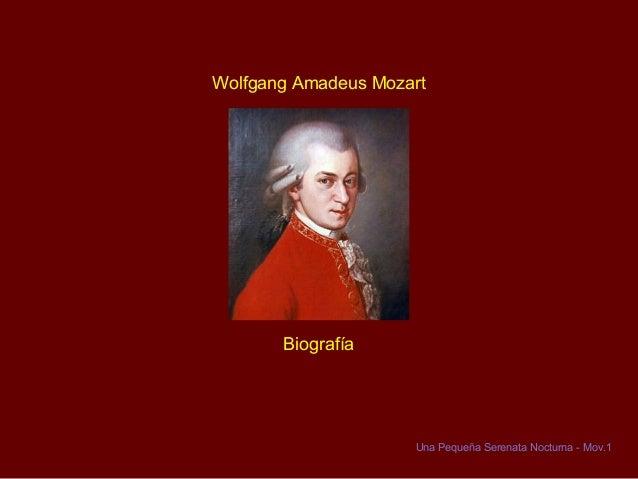 Wolfgang Amadeus Mozart  Biografía  Una Pequeña Serenata Nocturna - Mov.1
