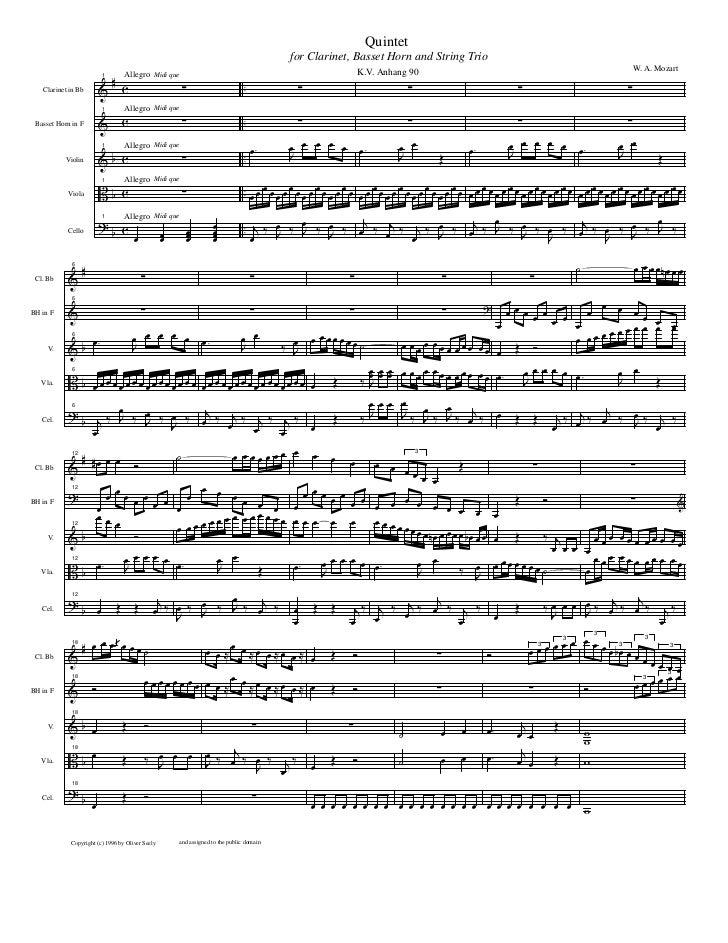 Quintet                                                                                            for Clarinet, Basset Ho...