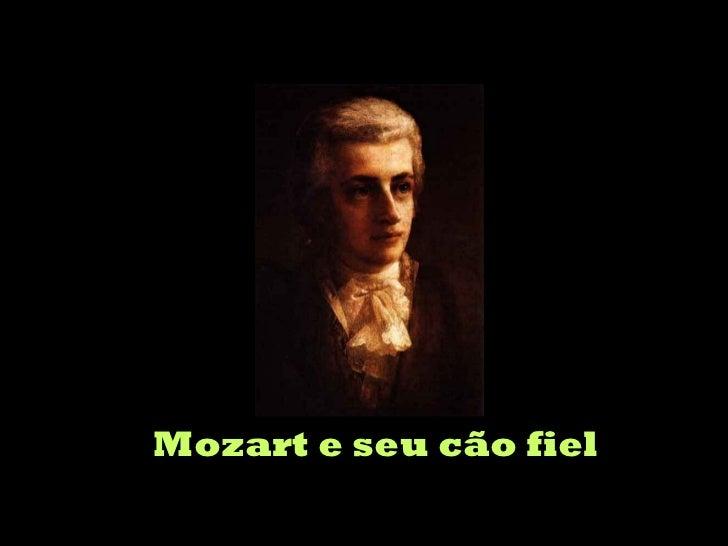 Mozart e seu cão fiel