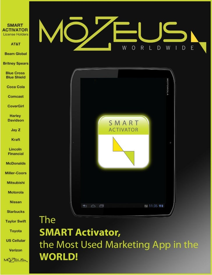 TheSMART Activator,the Most Used Marketing App in theWORLD!