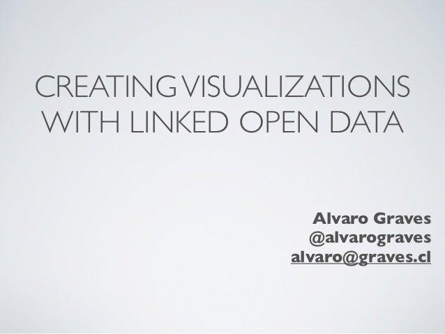 CREATING VISUALIZATIONSWITH LINKED OPEN DATA                  Alvaro Graves                 @alvarograves               al...