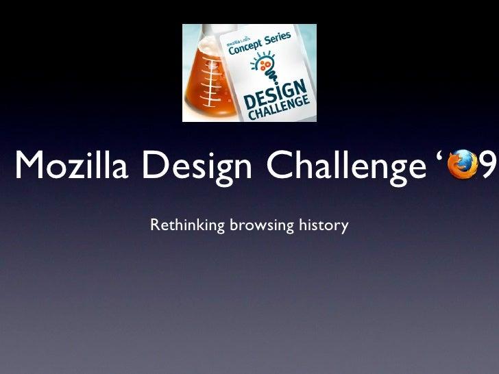 Mozilla Browsing History Design Challenge