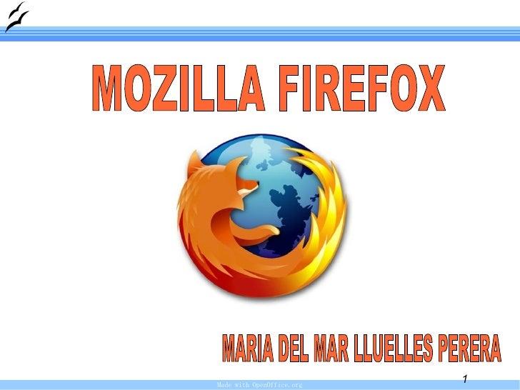 MOZILLA FIREFOX  MARIA DEL MAR LLUELLES PERERA