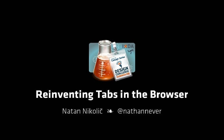 Reinventing Tabs in the Browser