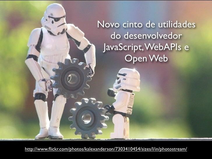 Novo cinto de utilidades                                    do desenvolvedor                                  JavaScript, ...