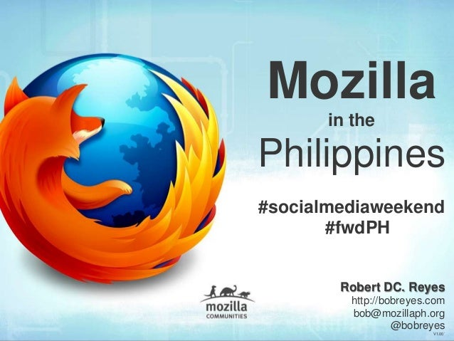 Mozilla in the Philippines & Online Privacy (Social Media Day 2013)
