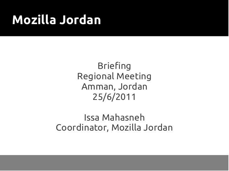 Mozilla Jordan in the Arabic Mozilla Regional Meeting