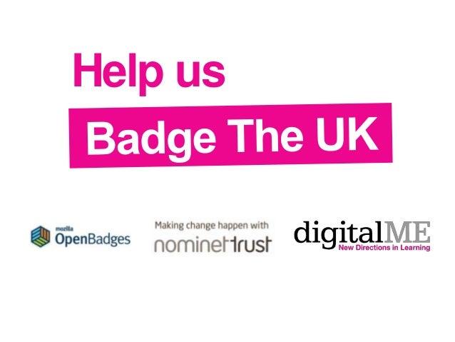 Badge The UK introduction - Mozilla open badges community call