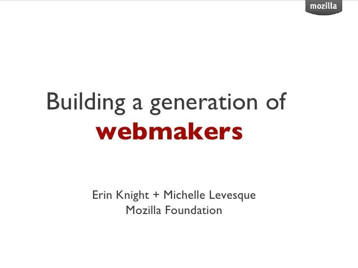 Mozilla and web literacies
