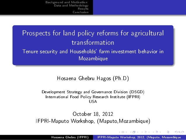 Moz land policy-for-agric-transformation