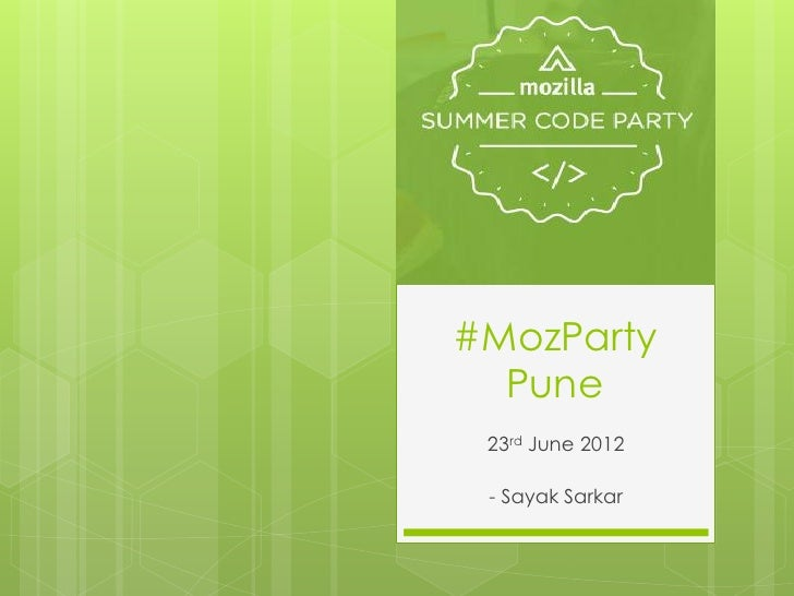 MozParty Pune