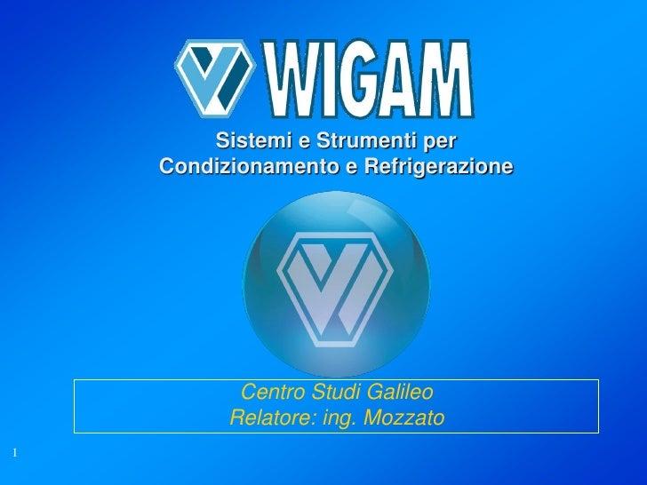 Sistemi e Strumenti per    Condizionamento e Refrigerazione           Centro Studi Galileo          Relatore: ing. Mozzato1