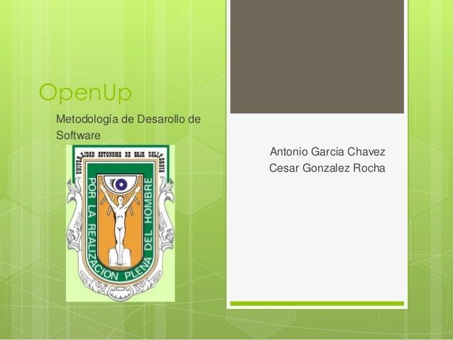 OpenUp Metodología de Desarollo de Software                               Antonio Garcia Chavez                           ...