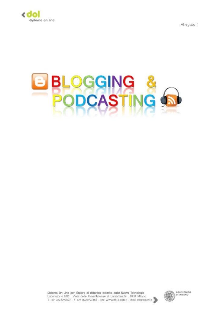 Progetto Blogging e Podcasting