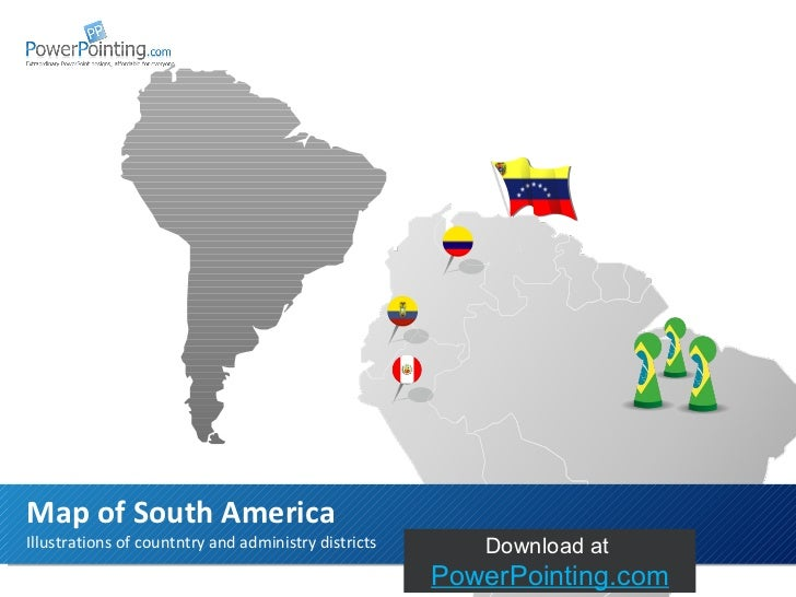 Powerpoint South America Map