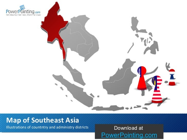 Illustrations of countntry and administry districts Map of Southeast Asia Download at  SlideShop.com