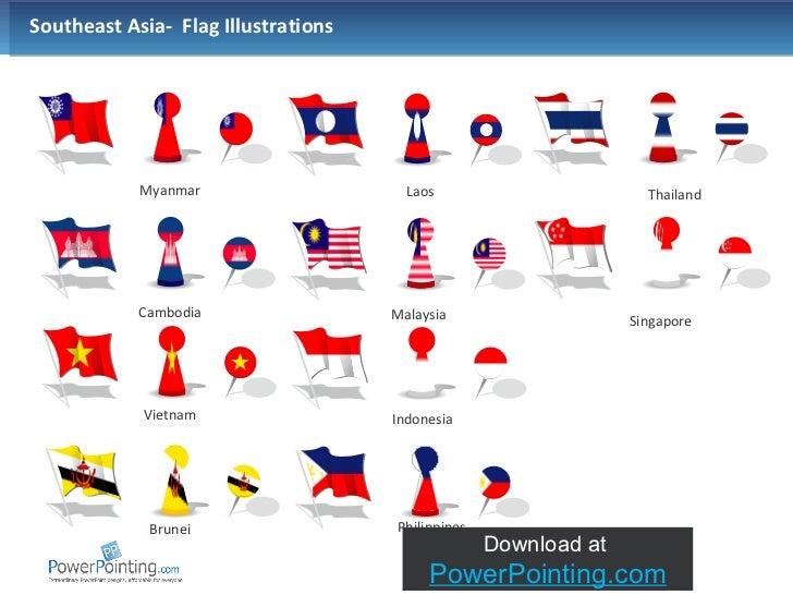 Southeast Asian Flag Southeast Asia Flag