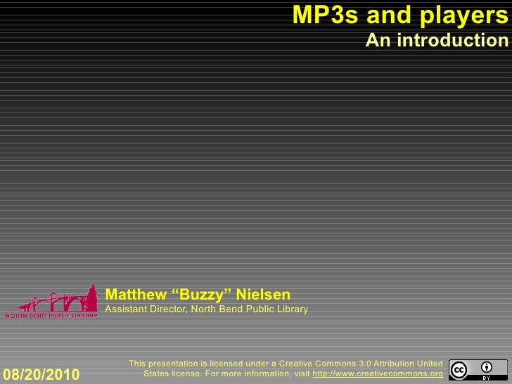 MP3s and players                                                                             An introduction              ...