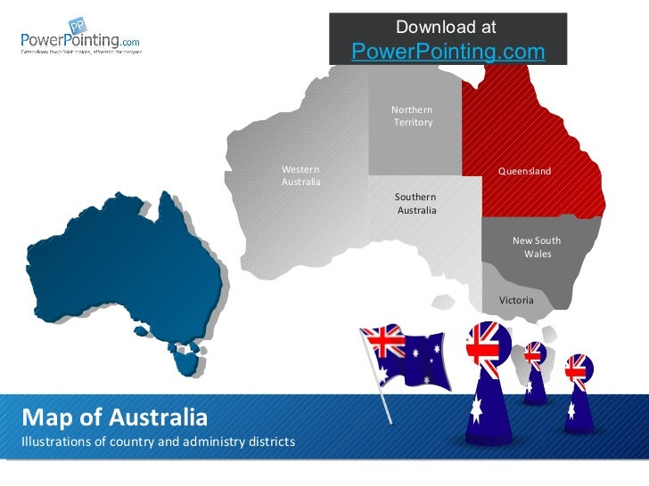 Illustrations of country and administry districts Map of Australia Download at  SlideShop.com Northern Territory Southern ...