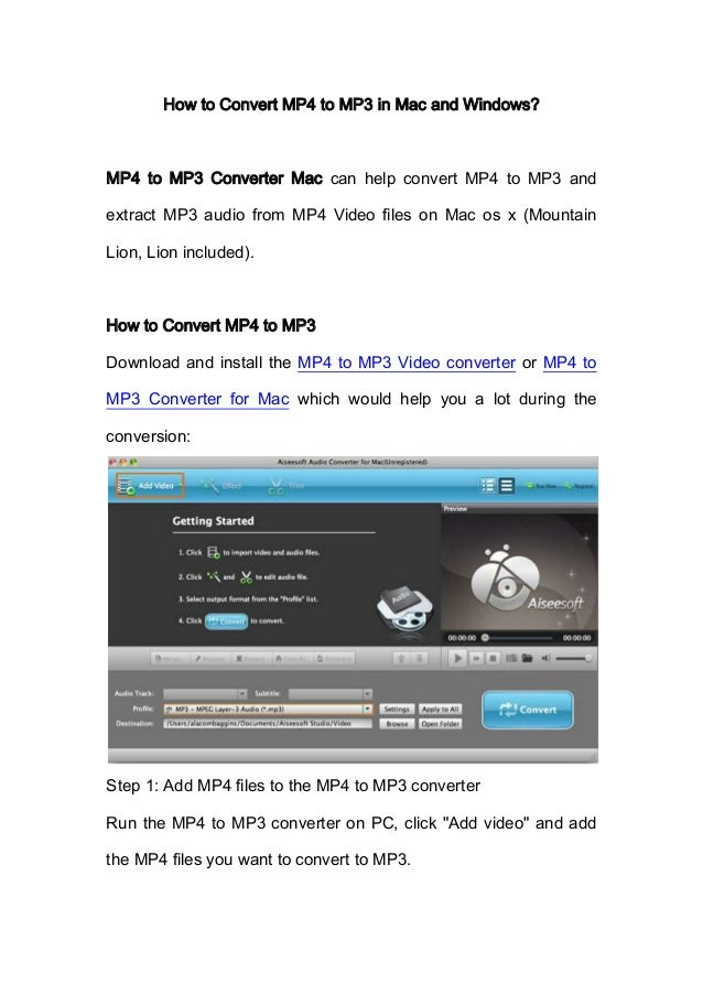 How to Convert MP4 to MP3?