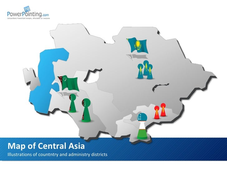 Illustrations of countntry and administry districts Map of Central Asia Download at  SlideShop.com