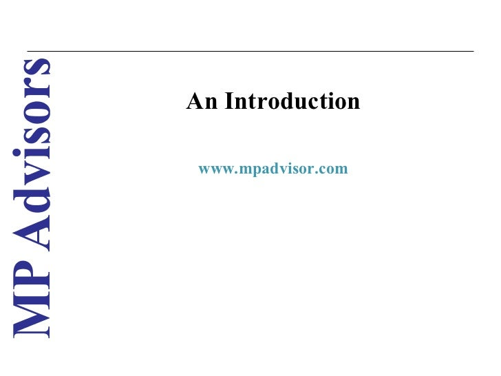 An Introduction www.mpadvisor.com                     1