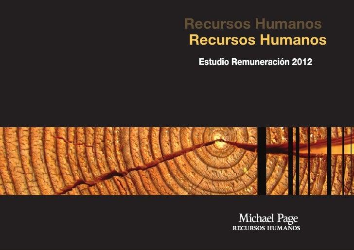 Recursos HumanosRecursos Humanos Estudio Remuneración 2012