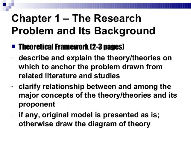 Theoretical background in thesis writing