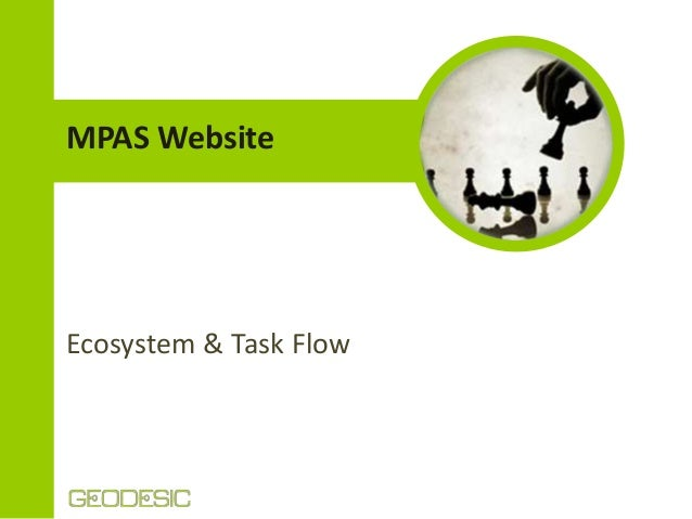 MPAS Website  Ecosystem & Task Flow