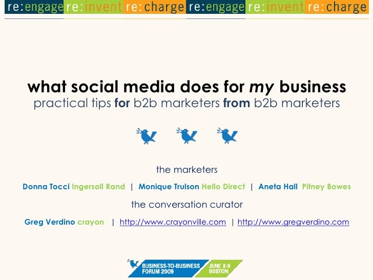 what social media does for my business   practical tips for b2b marketers from b2b marketers                              ...