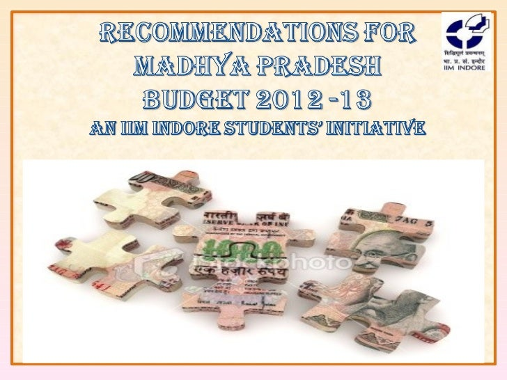 Madhya Pradesh Budget Recommendations by IIM Indore Students